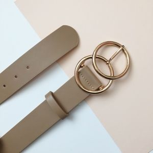 Accessories - Double Ring Belt - NUDE/GLD